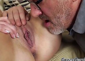 Teen fucking old gramps