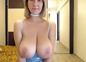 Sexy woman lives showing huge pair