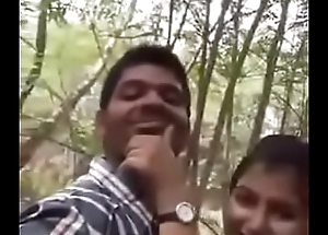Cute Indian lover having making love at car park
