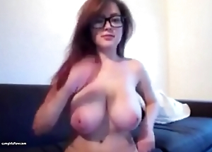 Big Tits Girl Drinks Beer and By oneself Chills