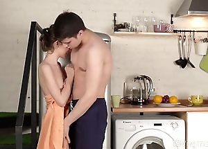 18 Unused Sex - Sweet cutie runs into excited dude