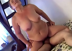 Horny granny penetrates approximately dildo &nbsp_young lover