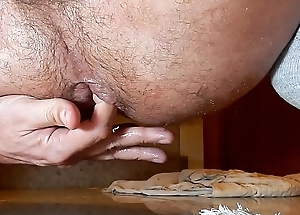 Playing round a lemon and cum