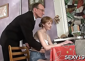 Sweet honey is getting her twat drilled by coach from behind