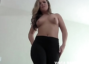 Let me bend over for u in my yoga panties JOI