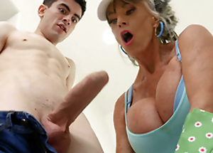 Granny Exhort D'Angelo is engulfing hammer away hard cock