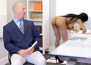 Brittney White receives on the phone respecting will not hear of employee's wife while old geezer him