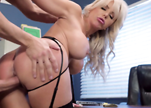 Nina Elle - Eradicate affect boss' Naughty spliced gets reams of ball batter served in their way cunt