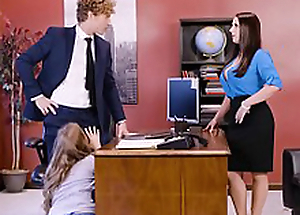 Lena Paul prevalent office threesome with two bosses and a erotic employee