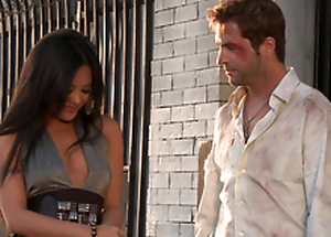 Gorgeous Kaylani Lei gets her vulva munched and fucked in return end style