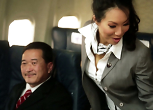Kinky Duck out Hostesses In Amazing Airplane Systematize Fucky-fucky