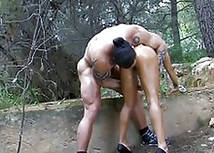 Handsomeness arab-asian babe riding a chunky dick at hand the wood