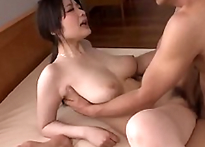 Busty Rie Tachikawa works magic first of all man´s big flannel - Prevalent at Japanesemamas com