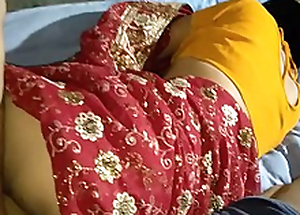 Indian lalita Singh  just married drilled near saree