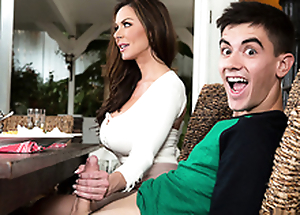 Hot mom Kendra Lust fucks and blows son's stout-hearted Hawkshaw