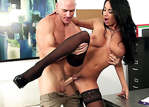 Lad coils Anissa Kate over desk to fool on every side from behind in XXX porn