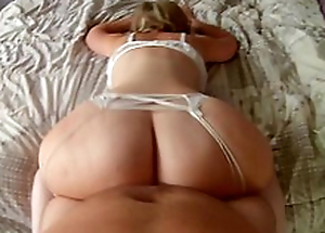 Mam whoop-de-do on the bed shaking giant ass before coitus in adored XXX positions