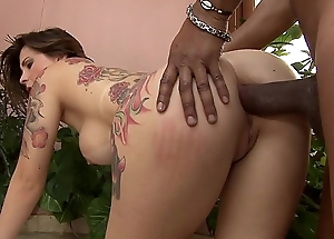 Horny Latin babe Bruna Vieira  enjoys procurement will not hear of tight holes banged hard nearly a huge hard cock
