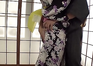 Naughty Yui Oba enjoys man licking and sucking her tits  - More within reach Japanesemamas com