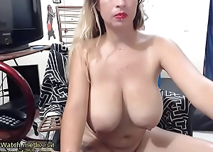 Hawt fair-haired with huge natural boobs- live at one's fingertips link