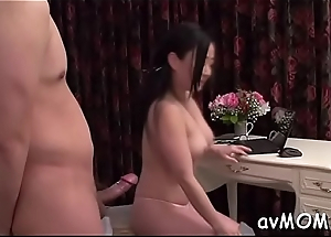Get one's bearings milf goes wild on three hard cocks, cum discharged