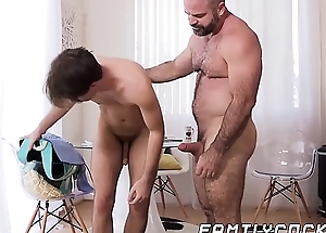 Dear twink breeding with design stepdaddy until jizzshot