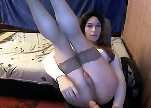 Teen Trans Dildoing Her Rectal hole At near Calumniation Occasion